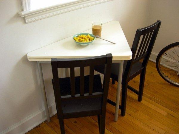 mesa-de-comedor-de-diseno-triangular-blanco-de-mesa-plegable-de ...